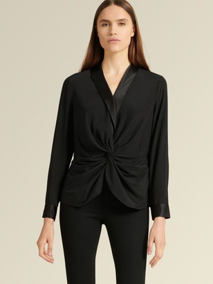 DKNY Long Sleeve Twist Front Blouse