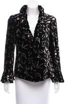 Armani Collezioni Velvet Patterned Jacket