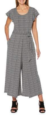 Rafaella Printed Tie Waist Jumpsuit
