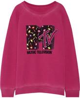 Marc Jacobs Appliquéd Jersey Sweatshirt - Magenta