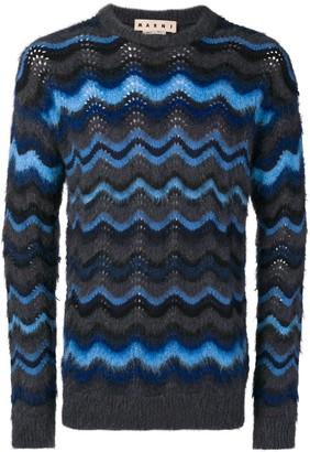 Marni wavy knit jumper