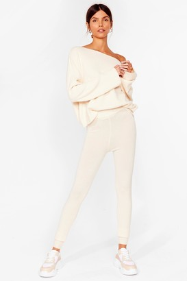 Nasty Gal Womens Ready Set Go Knitted Sweater and Legging Set - Ivory