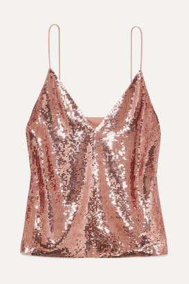 Veronica Beard Coda Sequined Georgette Camisole - Pink