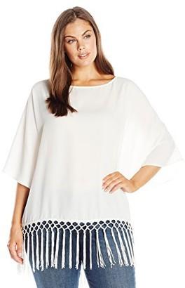 Single Dress Women's Plus Size Fringe Top