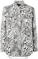 Philipp Plein animal print shirt