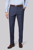 Moss Esq. Regular Fit Blue Pindot Pants