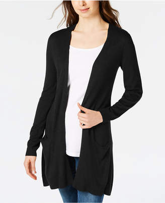 Maison Jules Long Open-Front Jersey Cardigan Sweater