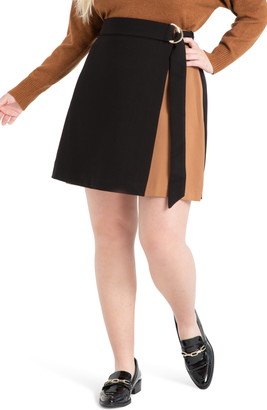 ELOQUII Colorblock D-Ring Skirt