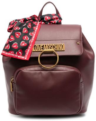 Love Moschino Logo-Plaque Handkerchief Backpack