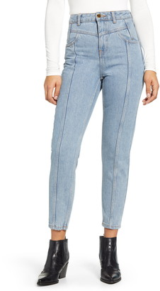 Topshop Yoke Bleach Mom Jeans