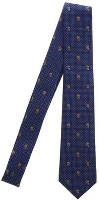 Alexander McQueen Skull Embroidered Tie