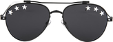 Givenchy White Star Black Aviator Sunglasses