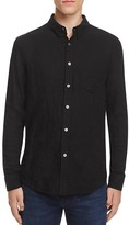 Billy Reid Crinkle Cotton Slim Fit Button Down Shirt