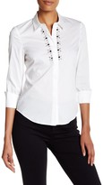 Laundry by Shelli Segal Poplin Shirt with Embellishment