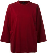 Joseph cropped sleeves jumper - women - Cotton/Spandex/Elastane - M