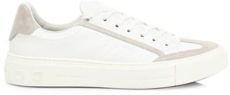 Salvatore Ferragamo Borg Leather & Suede Sneakers