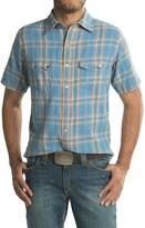 Ryan Michael Plaid Shirt - Snap Front, Short Sleeve (For Men)