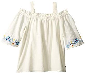 Lucky Brand Kids Iliana Top (Big Kids) (Marshmallow) Girl's Clothing