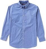 Roundtree & Yorke Trademark Big & Tall Long-Sleeve Pinstripe Buttondown Sportshirt
