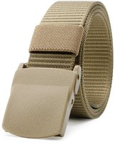 JasGood Mens Nylon 1.5in Width Adjustable Belt With Double Military Plastic Buckles