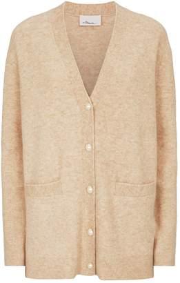 3.1 Phillip Lim Wool-Alpaca Pearl Button Cardigan
