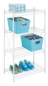 Honey-Can-Do 4-Tier Wire Storage Shelf, White