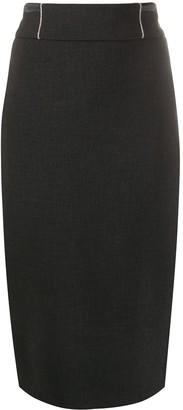 Peserico Twill Pencil Skirt