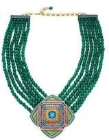 Heidi Daus Multi-Strand Crystal Beaded Pendant Necklace