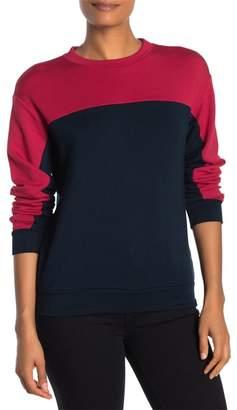 Velvet by Graham & Spencer Contrast Yoke Long Sleeve Sweater