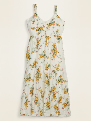 Old Navy Floral-Print Tiered Plus-Size Maxi Sundress
