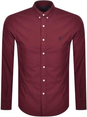 Ralph Lauren Oxford Long Sleeved Shirt Red