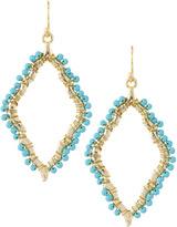Marquis Panacea Scalloped Beaded Dangle Earrings, Turquoise
