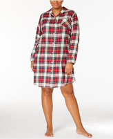 Lauren Ralph Lauren Plus Size Brushed Twill Boyfriend Sleepshirt