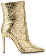 Alexandre Birman Evie Metallic Python Ankle Boots