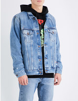 Off-White Paint-splattered denim jacket
