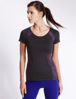 Marks and Spencer Performance Track Print T-Shirt