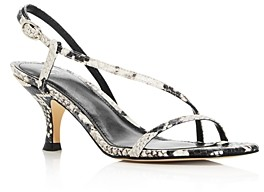 Marc Fisher Women's Gove Strappy Snake-Embossed Kitten-Heel Sandals