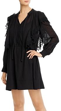 See by Chloe Lace Trim Cotton Mini Dress