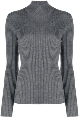 Etro Ribbed Knit Mock Neck Jumper