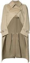 Junya Watanabe Comme Des Garçons - graffiti back trench coat - women - Cotton - S