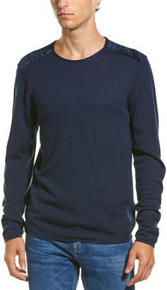 John Varvatos Velvet Wool-Blend Crewneck Sweater