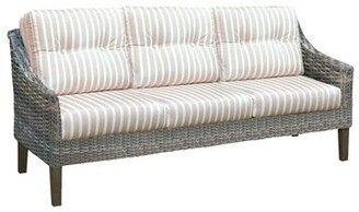 Highland Dunes Denson Patio Sofa with Sunbrella Cushions