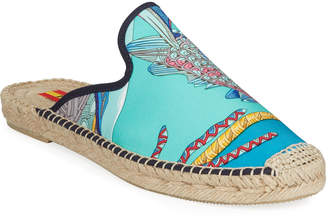Hermes Respoke Galo Flat Espadrille Mules