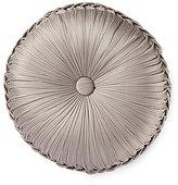 J Queen New York Babylon Button-Tufted Satin Round Pillow
