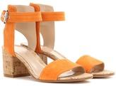 Gianvito Rossi Rikki Low Suede Sandals