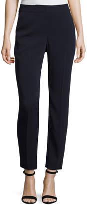 St. John Classic Emma Stretch Cropped Pants, Navy
