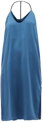 Lunya - Racerback Silk Nightdress - Womens - Blue