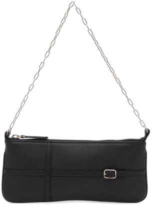 Abra Black Belt Baguette Bag