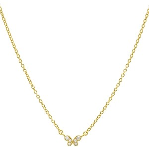 Aqua Small Embellished Butterfly Pendant Necklace in 14K Gold-Plated Sterling Silver or Sterling Silver, 16 - 100% Exclusive