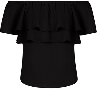 New York & Co. Petite Flounced Off-The-Shoulder Top - 7th Avenue